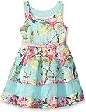 Bonnie Jean Toddler Girls Floral Puff Print Novelty Dress (7, Mint)