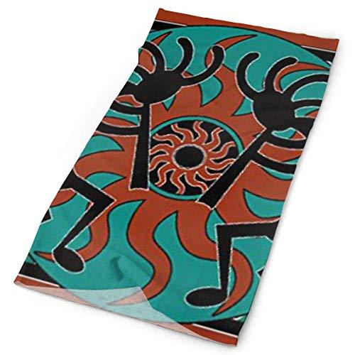 NA Kopftuch, Kopfbedeckung für Frauen, Mädchen, Männer, Mehrzweck-Stirnband, Damen, Indianerflöte, 10x20 inch (25x50cm)