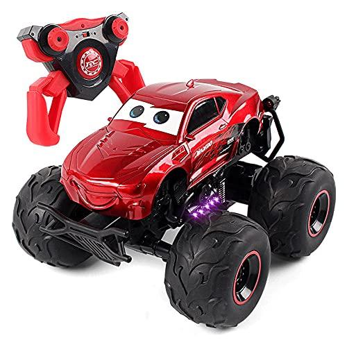 KGUANG Swing 4 × 4 Cartoon Stunt RC Car Off-Road 4WD Bigfoot Climbing 2.4G Control Remoto Buggy Drift 360 ° Giratorio Juguetes eléctricos para niños para niños y niñas Regalos de cumpleaños y Navidad