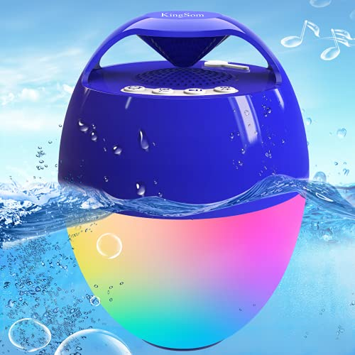 Portable Bluetooth Speaker,Hot Tub Speaker with 8 Modes Colorful...