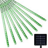 Berocia guirnalda luces exterior solar led luces led solares para exteriores jardin Luces Decorativas Guirnaldas Cadena Luces luci natalizie esterno 360 LED ip65 Impermeabile Luz de meteorito (Verde)