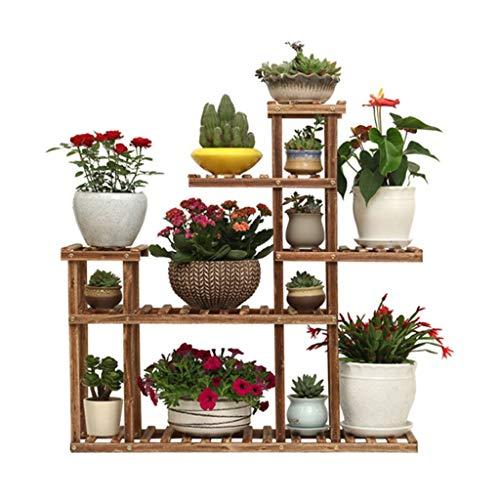 Support de Chaussure pour Fleurs Support de Rangement pour présentoir de Fleurs Présentoir pour étagères à Fleurs Support de Table en Bois pour intérieur et extérieur, Taille 95x90x25 cm