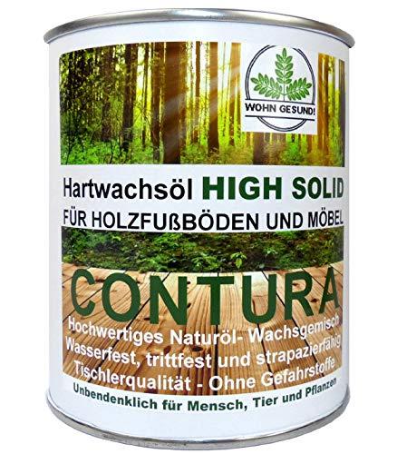 CONTURA NATUR Hartwachsöl Holzschutz Holzöl Parkett- Fussboden- Möbel Öl Wachs Holzwachs 750ml. Farblos anfeuernd Hartöl