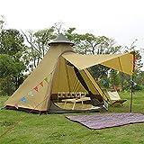 BVYO Camping Tente Extérieure Yourte Mongole Tente De Plage Anti-Moustique Tabernacle Double Couche en Plein Air Randonnée Lodge Teepee, B