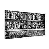 Bilderwelten Pizarra magnética - Bar Black White - Panorama Formato apaisado, magnéticas...