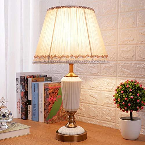 Einfache Und Moderne Tischlampe, E27 Kreative Rot Europäischen Stil Hochzeit Festlich Gedeckten Tisch Licht, Schalter Schlafzimmer Nachttischlampe Warme Taste (Color : White)