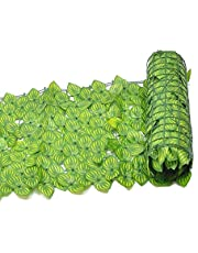 Artificial Ivy Privacy Fence Screen, Artificial Hedges Faux Ivy Leaves Fence Privacy Screen Cover Panels Decorative Trellis for Outdoor Decor, Garden, Green