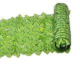 Seto Artificial en Rollo 3x1m para Vallas Balcón Barandilla Vallas de Privacidad Planta Decorativa, Vallas de privacidad de hoja verde de detección de seto de hoja de hiedra artificial de 1 * 3 M
