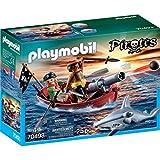 PLAYMOBIL - 70493 - Barco Pirata con el tiburón Martillo