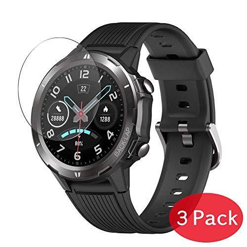 VacFun 3 Piezas Vidrio Templado Protector de Pantalla para Blackview SW-216 1.3' Smartwatch Smart Watch, 9H Cristal Screen Protector Sin Burbujas Película Protectora Reloj Inteligente Pulsera
