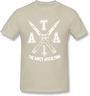 ToWi Men's The Amity Affliction LOGO T-shirts Natural M