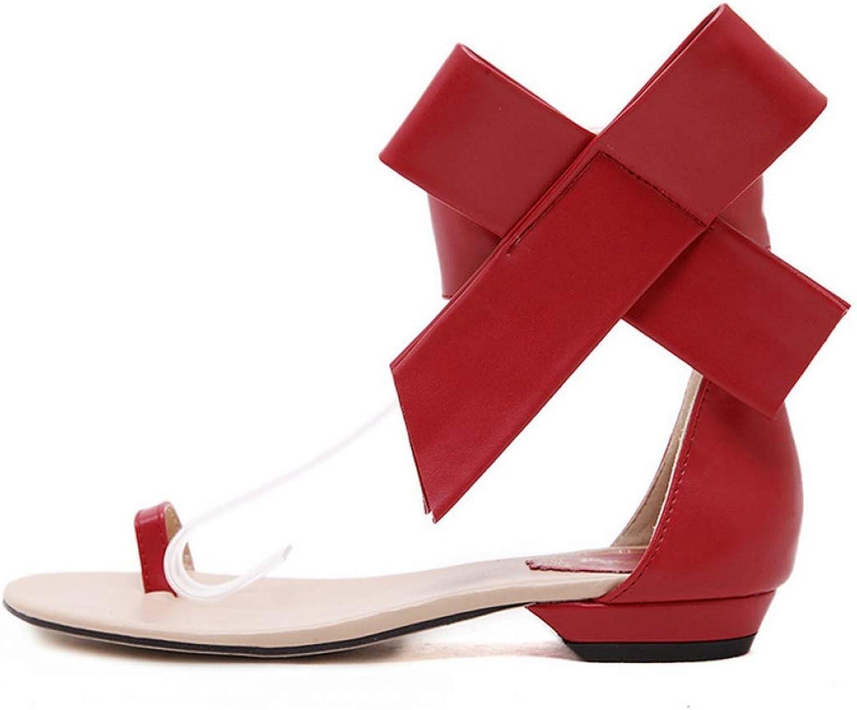 Hoxekle kvinna's Ankle Strap Sweet Backless stor Butterfly -Knot -Knot -Knot Sandals Lady Girl Clip Toe sommar Flat skor  köpa billiga nya