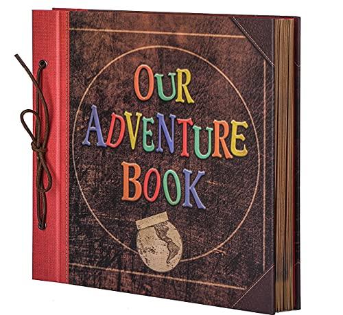 LINKEDWIN Álbum de recortes de 12 x 12 pulgadas, nuestro libro de aventuras, 60 páginas (nuestro libro de aventuras)