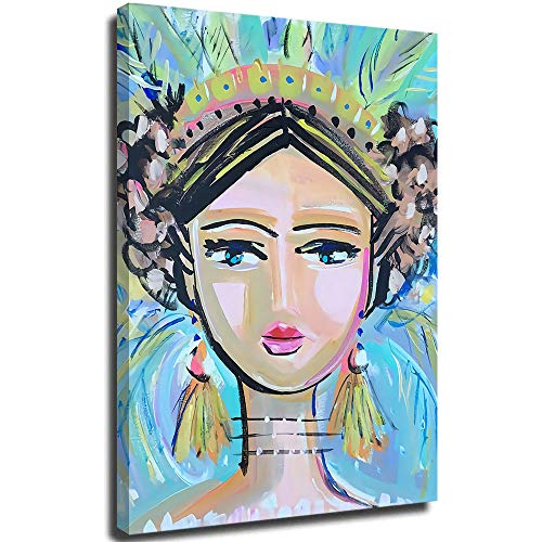 Girl Art sketches Art painting Wall Art Canvas Abstract Canvas Wall Art Hand Painted 3D Vertical Art Paintings for Home Decor 24'x36'