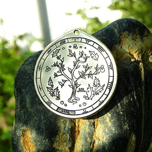 Holly necklace. Celtic sings and Oghams jewelry. Celtic Tree astrology horoscope (July 8 Aug 4)