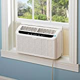 Quiet Window Air Conditioner Haier ESAQ406T-H 6000 BTU 115V with Digital Remote Control, 24 Hour Timer, & Sleep Setting - Includes 3 Speeds and 4 modes for up to 250' Sq Ft. EER Rating 11.2 CEER.
