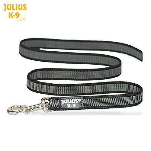 Julius K9 Sportleine, gummiert, grau/schwarz, 2m