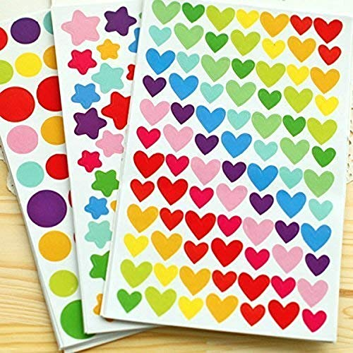 PuTwo - Adesivi 18 Fogli 1200 Adesivi per Fujifilm Instax Mini Photo Foto Stickers Scrapbooking Instax Mini Photo Accessori fai da te, Colori assortiti