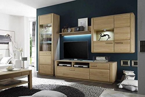 Wohnwand 1 verstellbarer Holzboden