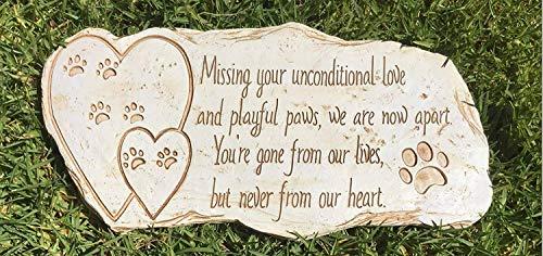 Paw Print Pet Memorial Stone Marker Stone