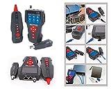 Kalea Informatique - Comprobador profesional de red RJ45 RJ11 USB BNC (medición/mapa / marca/prueba PoE y PING/registro de pruebas/baterías recargables)