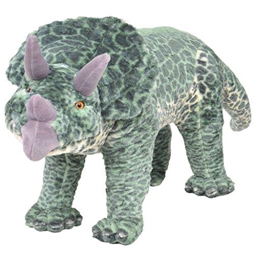 vidaXL Plüschtier Stehend Triceratops Dinosaurier XXL Kinder Plüschspielzeug