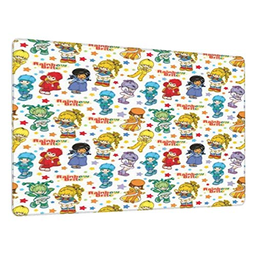 Classic Rainbow Brite and friendsern Mouse Pad Large Gaming Mousepad Extended Desk Mat Long Non-Slip Rubber Desk Pad for