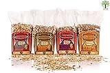 Axtschlag 4+1 Set Räucherchips BBQ Favorites + GRATIS 8X Grillpapier, für Gasgrill, Elektrogrill...