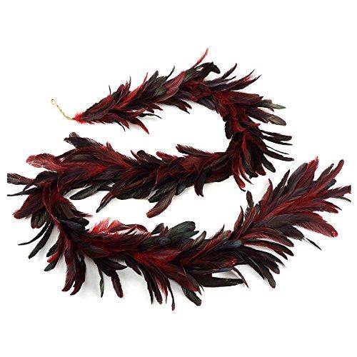 ZUCKER Dyed Bronze SCHLAPPEN Feather Garland RED