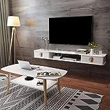 BXYXJ Mueble de TV, Estante Flotante TV, 110/130 / 150cm Madera de Pino, Pintura de Piano, Consola de Audio/Video montada en la Pared. (Color : A, Size : 110CM)