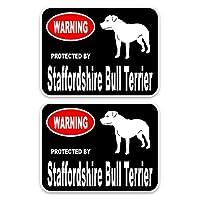 車のステッカー 15 X 11.4cm 2x StaffordShireブルテリア犬PVC高品質動物車のステッカーC1-4571 車のステッカー