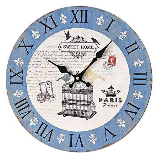 Reloj de Pared para Cocina Reloj de Pared sin Marco con Jaula...