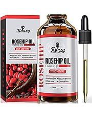 Kanzy Aceite de Rosa Mosqueta Puro 100% 120ml Orgánico Prensado en Frío Bio sin Refinar Rosehip Oil usado como Hidratante para Cara, Cabello, Uñas, Cuerpo y Piel