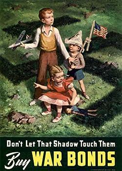 WW2 Poster BUY WAR BONDS - Americananti German Propaganda Poster Size 11.7x16.5 inches