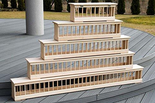 AGROHIT Futtertrog-Futterraufe-Taubentrog aus Holz 50/60/70/75/100/120/150 cm (100cm)