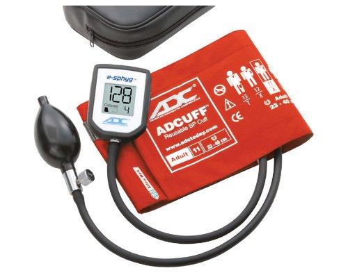ADC 7002 E-sphyg Monitor de presión arterial aneroide digital de bolsillo, brazalete BP reutilizable, adulto, naranja, herramientas médicas para médicos y enfermeras