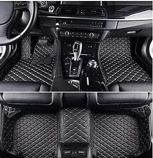 YAOJINYI XPE Leather 5D Diamond Designed No Smell Anti-Slip car Floor mats for Mercedes C Class 4 Door 2014-2015 Saloon (Black)