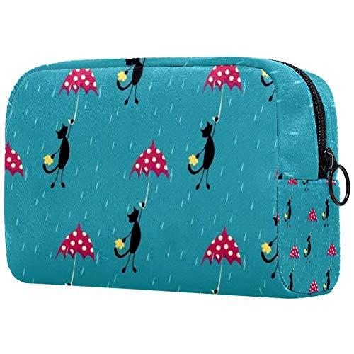 Sac cosmétique de dessin animé rétro avions adorable spacieux sacs de maquillage de voyage trousse de toilette sac organiseur Coloris 05 7\