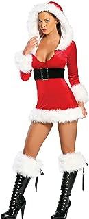 Fashion Queen Red Sassy Santa Costumes Sexy Miss Santa Cosplay Fluffy Trim Mini Dress
