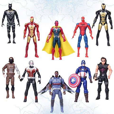 New 2021 Superhero Action Figures | Adventures Ultimate Super Hero Set of 10 | Action Figure Toys | Legend Collectible 6.7-Inch PVC Figures Toys Dolls | Toy Set | Hero Cake Toppers
