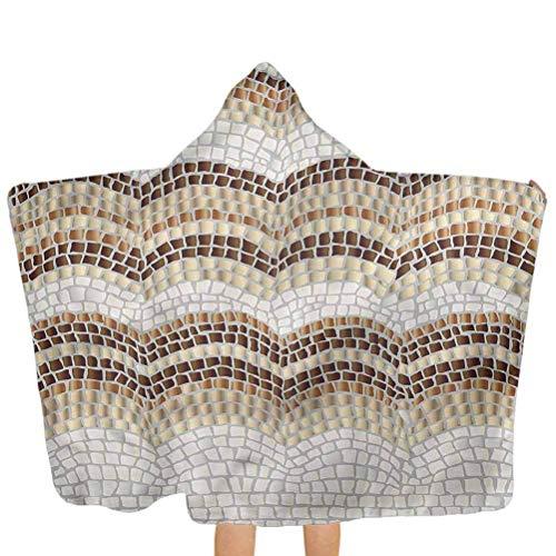 ZHSL Baby Badetücher Antike, Pflaster Mosaik inspirierte weiche Kapuzen Badetücher Perfekt 51,5x31,8 Zoll