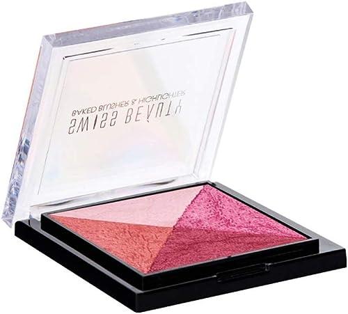 Swiss Beauty Baked Blusher & Highlighter, Face MakeUp, Multicolor-02, 7g