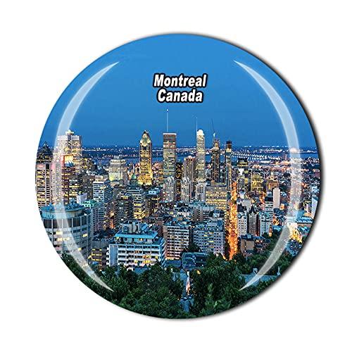 Canadá 3D Montreal - Imán para nevera (cristal, recuerdo, colección de recuerdos,...