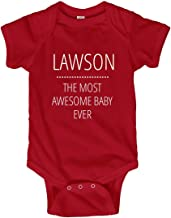 FUNNYSHIRTS.ORG Lawson Most Awesome Baby Ever: Infant Bodysuit