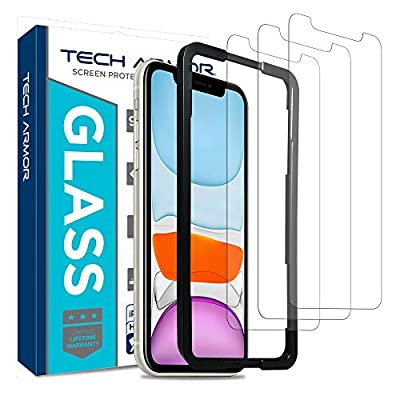 Tech Armor Ballistic Glass Screen Protector for Apple iPhone 11 / iPhone Xr - Case-Friendly Tempered Glass [3-Pack], Haptic Touch Accurate Designed for New 2019 Apple iPhone 11 by Tech Armor