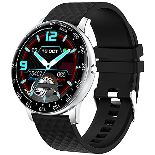 ZGZYL Smart Watch DIY Dial Fitness Rastreador Deportivo Reloj Deportivo con Presión Arterial/Oxígeno En La Sangre/Monitor De Ritmo Cardíaco iOS Android Smart Watch,D