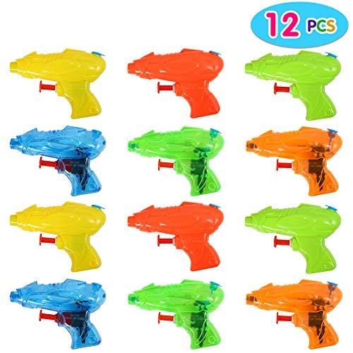 ThinkMax 12 Piezas Mini Pistolas de Agua para niños, Colores Surtidos