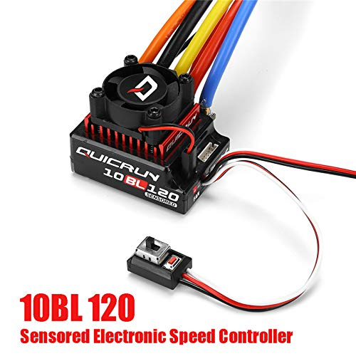 PCtech HOBBYWING QUICRUN 10BL120 SENSORED 120A ESC (2-3S) for 1/10th Touring Car/Buggy/F1/Drift Car
