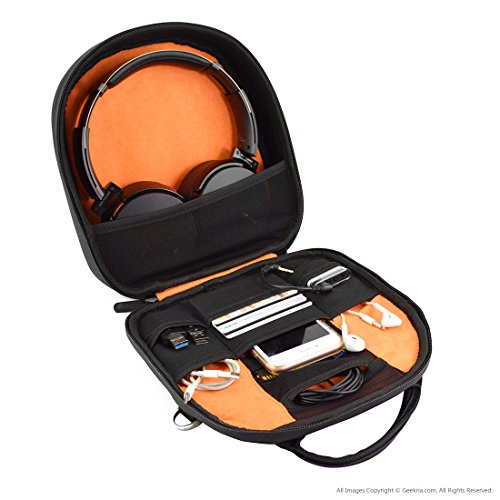 Geekria ELITE Headphone Shoulder Bag/Case Fit Sony WH1000XM3, WH1000XM2, MDR 950BT, 950B1, 950N1, 10RBT, B&O H2, H6, H7, H8, Parrot Zik ATH-M50x, ATH-M50xBT Headset Travel Cross-body Bag