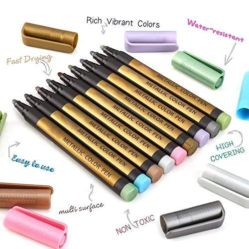 Soulitem 10 stuks 2 mm tip pen marker voor handwerk DIY kaart, het fotoalbum schilderwerk schrijfwaren